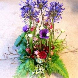 STÅTLIG begravningsbukett