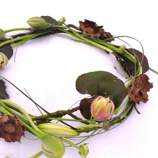 Personliga begravningsblommor Fransk Tulpan