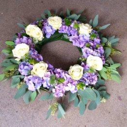 Samklang Hortensiakrans till begravning