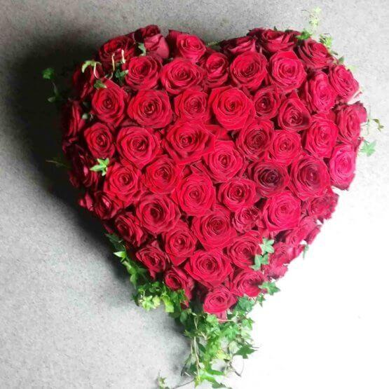 FÖR EVIGT rosenhjärta till begravning