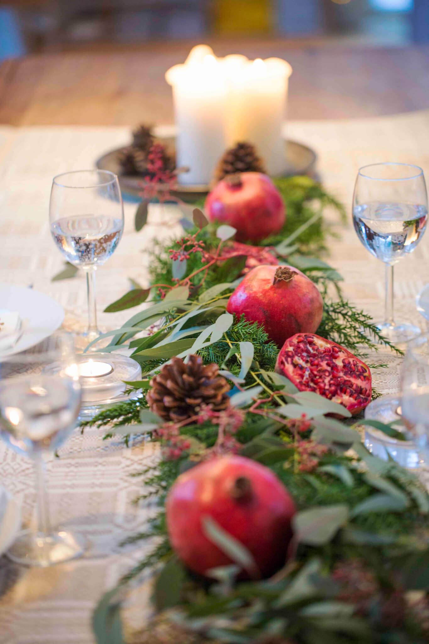 Julgirlang med granatäpplen