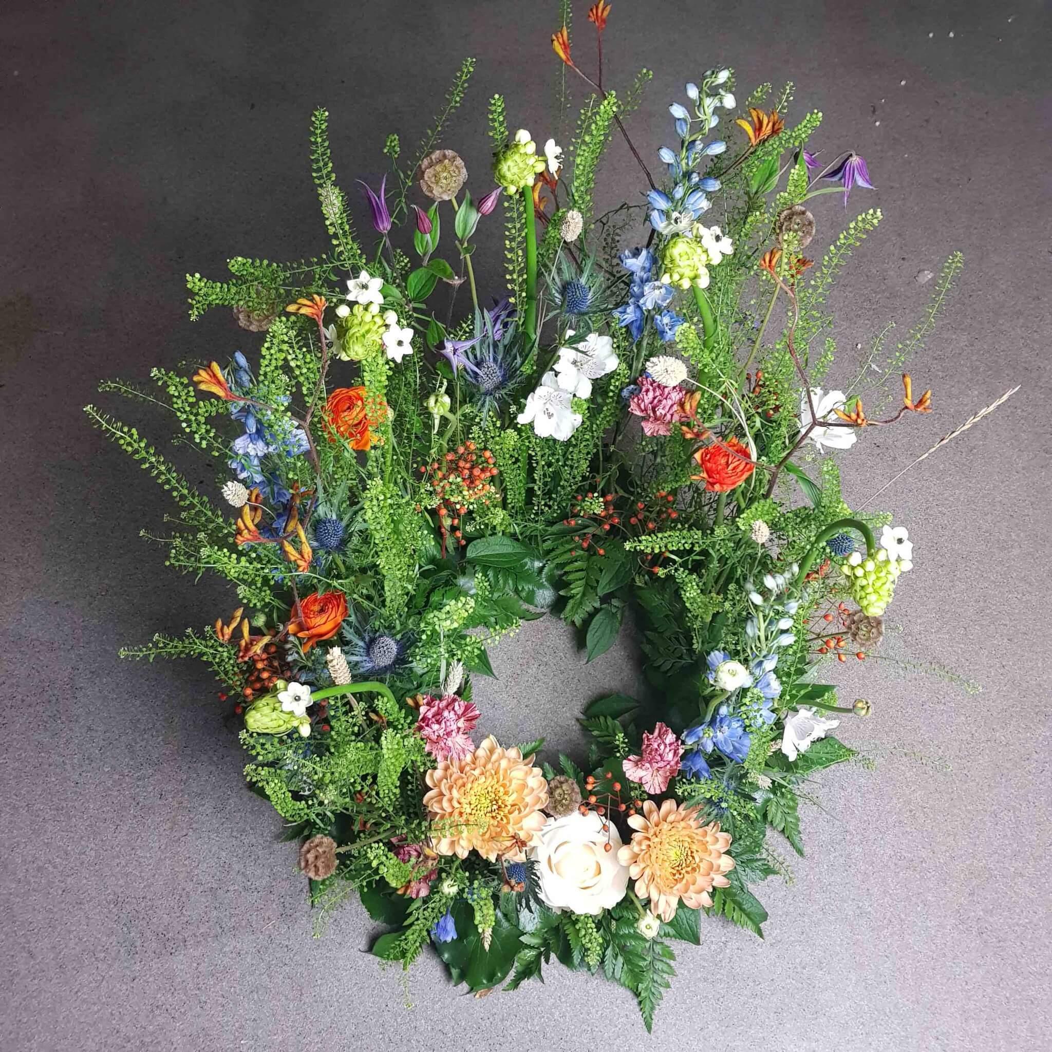 blomsteräng begravningskrans