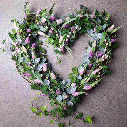 Hjärta om våren till begravning