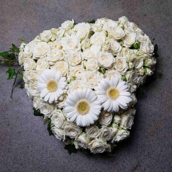 somna in hjärta till begravning