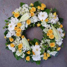 Begravningskrans citrongul