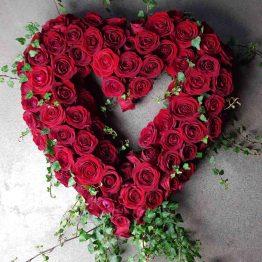 stort hjärta till begravning