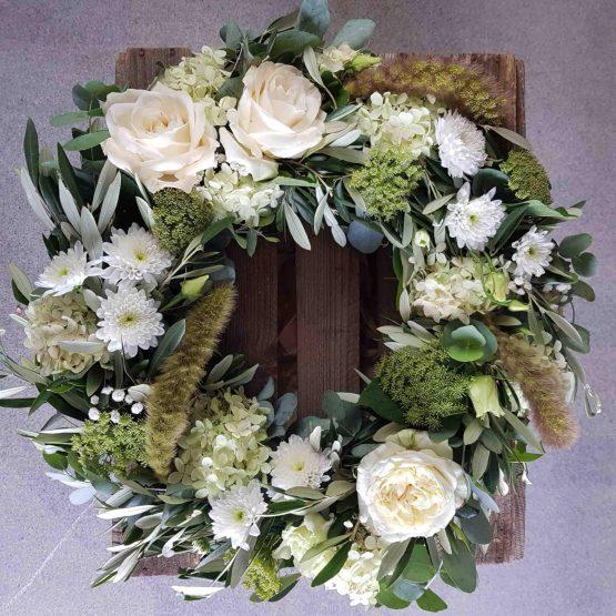 begravningskrans olivblad
