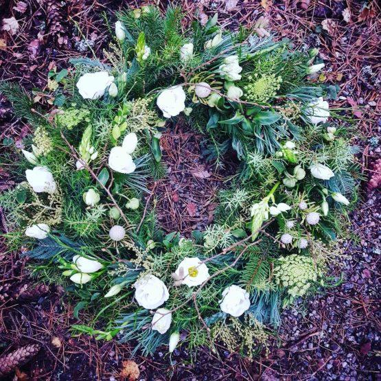 begravningskrans skog
