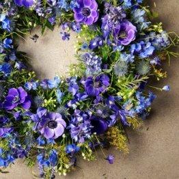 blå begravningsbegravning