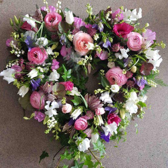maj hjärta till begravning