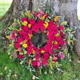 Djurgården krans till begravning